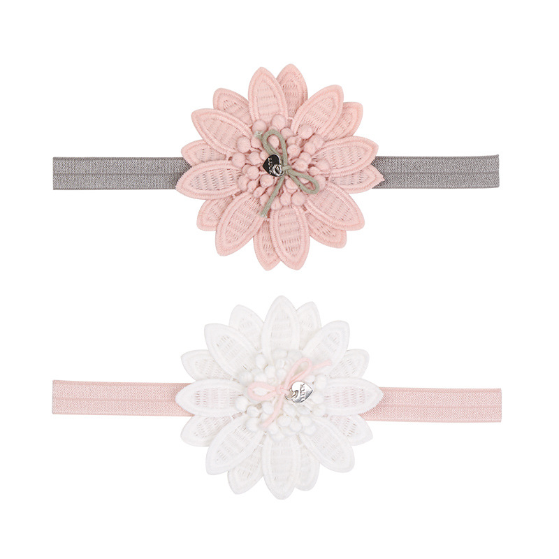 2pcs Flower Baby Headband Lovely Baby Hair Accessories Photography Props Toddler Girls Elastic Bands