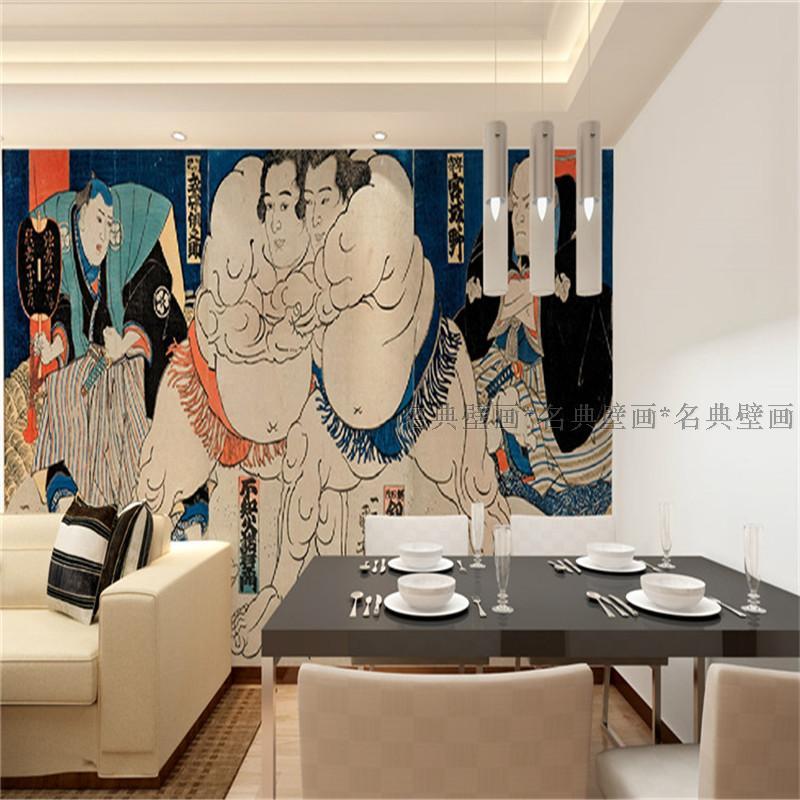 Japanese custom 3D  Wallpaper Japanese restaurant Sushi wind large mural tattoo samurai for living room bedroom custom baby wallpaper snow white and the seven dwarfs bedroom for the children s room mural backdrop stereoscopic 3d