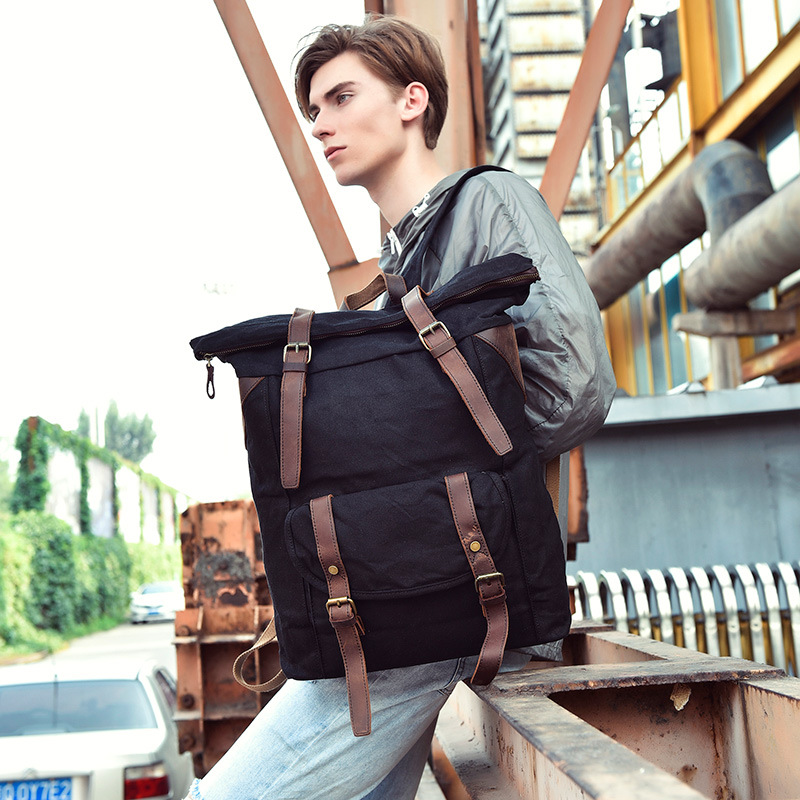17 INCH Large Capacity Retro Sporty Mountain Climbing Backpack High Qaulity Men Vintage Waterproof Wax Canvas Travel Backpack fischer sporty wax nis 197