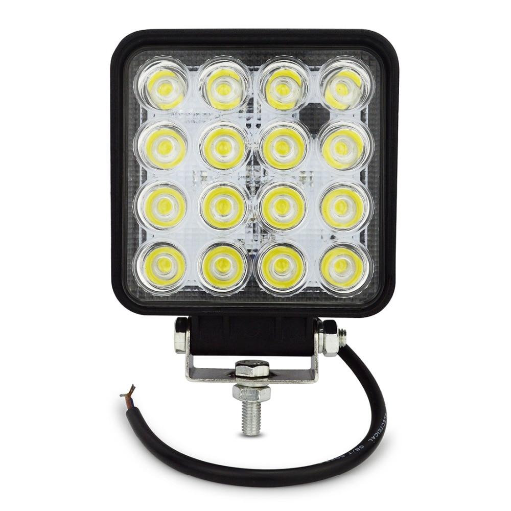 1pcs 4INCH 48W LED WORK LIGHT OFFROAD fog lamp Flood/spot flood 24V 12V led tractor work lights off road 4X4 car ATV BOAT