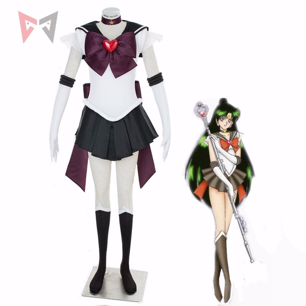 Athemis Anime Sailor Moon Dress Meiou Setsuna Sailor pluto Super S Cosplay Costume Custom Made Any