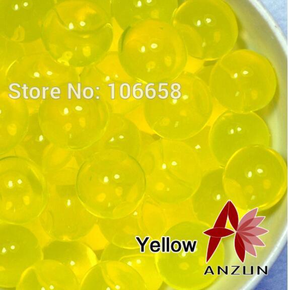 1200 шт почва из гидрогеля прозрачный цветок растения вода питательный Биогель почва семья украшение - Цвет: No 10 Yellow
