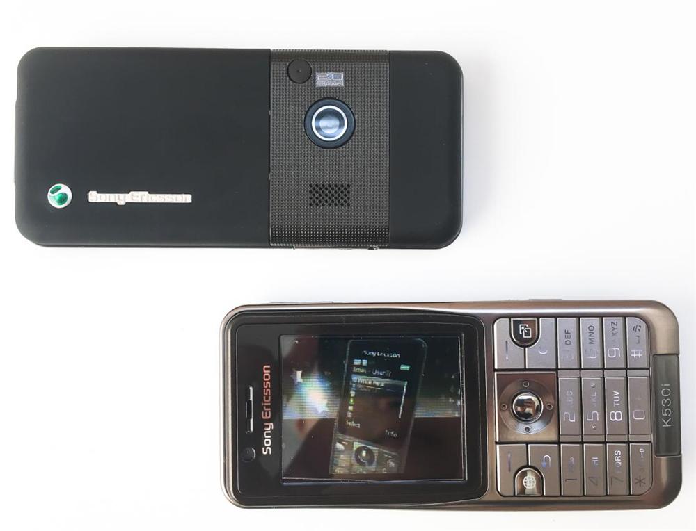 Refurbished phone Original Sony Ericsson K530 Unlocked Cell Phone 2MP Camera Bluetooth red 2