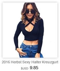 2016 Herbst Sexy Halter Kreuzgurt
