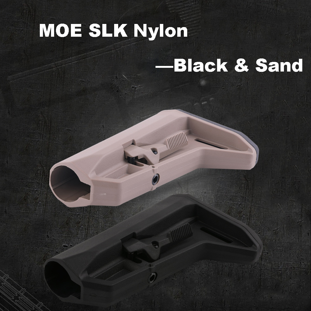 MOE SL-K Nylon Paintball Camping Component Adjustable Stock For Airsoft AEG New Jinming8 Gen9 AR15/M4 Mini Accessories