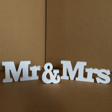 Wedding Decorations 3 Pcs/set Mr & Mrs Romantic Mariage Decor Birthday Party Decorations Pure White Letters Wedding Sign Hot
