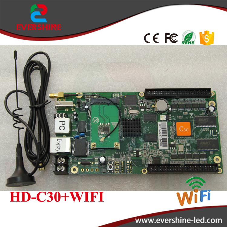 C30 HD-C30 wireless sending and receiving system all-in-one full color control card specialized in small LED display simcom 5360 module 3g modem bulk sms sending and receiving simcom 3g module support imei change