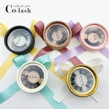 Colash 5d mink lashes false eyelashes custom eyelash packaging vendors private label