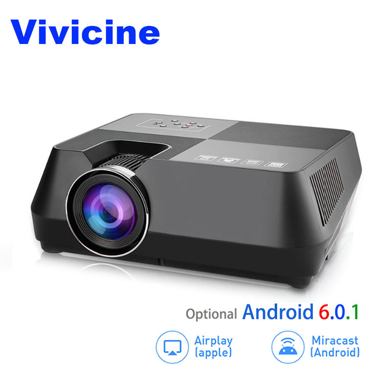 Vivicine V8 V8 Pro Mini LED font b Projector b font 800x480p Home Theater HDMI USB