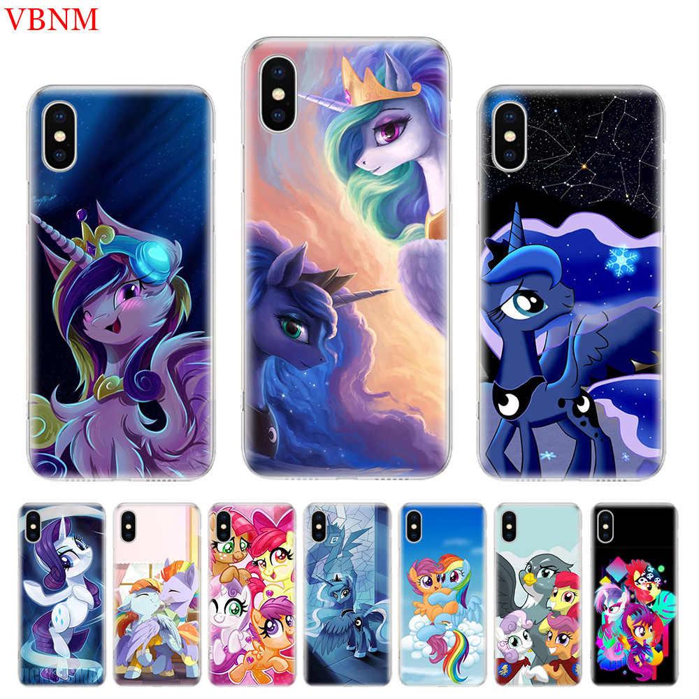 Роскошный мягкий чехол для телефона с рисунком My Little Pony чехол для iPhone 7 6 S X XR XS MAX 8 6 Plus 10 5 5S SE Art индивидуальная Обложка Coque