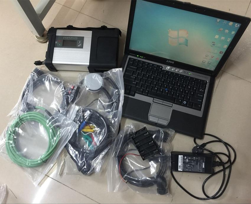 Mb star c5 diagnostiquer scanner avec un ordinateur portable d630 ram 4g hdd 320 gb logiciel 2018.12 windows 7 prêt à utiliser