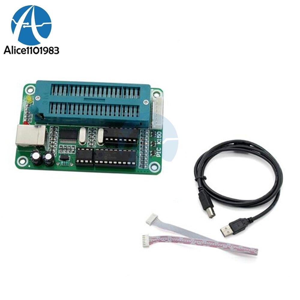 K150 1 zestaw PIC ICSP programator USB automatyczne programowanie rozwijać mikrokontrolera modułu z USB kabel ICSP