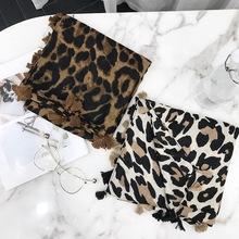 2018 Women Brand Fashion Leopard Dot Tassel Viscose Shawl Scarf Print Soft Wrap Pashminas Sjaal Muslim Hijab Snood 180*100Cm cheap Scarves Polyester Viscose Cotton Viscose Cotton scarf Shawl Wrap 175cm KPACNBBINCEMB Adult 180Cm 120g Shawl Hijab Scarf