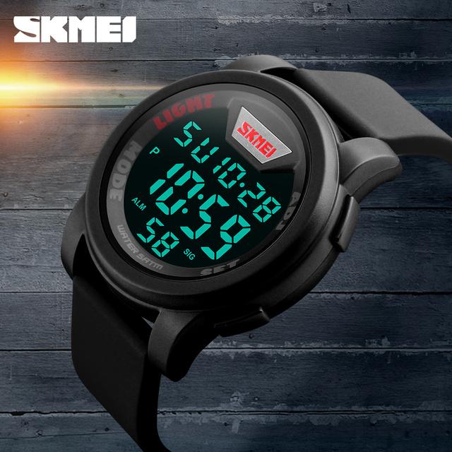 Nueva Marca Digital Reloj de Los Hombres Militar Deportes Relojes de Moda Impermeable Del Silicón LED Reloj de Pulsera Para Hombres Reloj Orologio Uomo