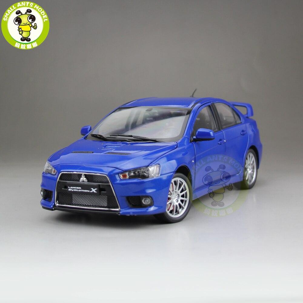 1/18 Lancer EVO-X EVO X 10 Left Steering Wheel Diecast Metal Car Model Toy Boy Girl Gift Blue