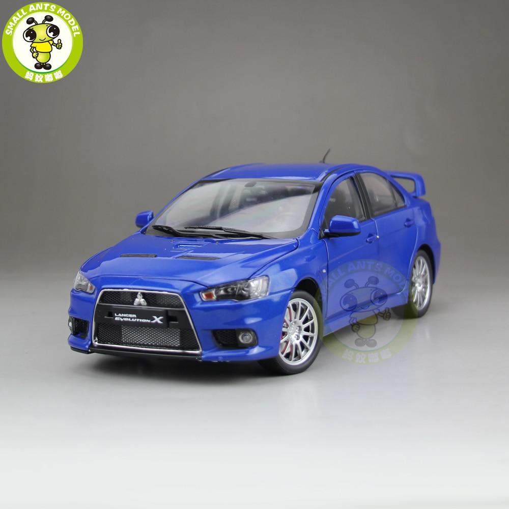 1/18 Mitsubishi Lancer EVO-X EVO X 10 Left Steering Wheel Diecast Metal Car Model Toy Boy Girl Gift Blue
