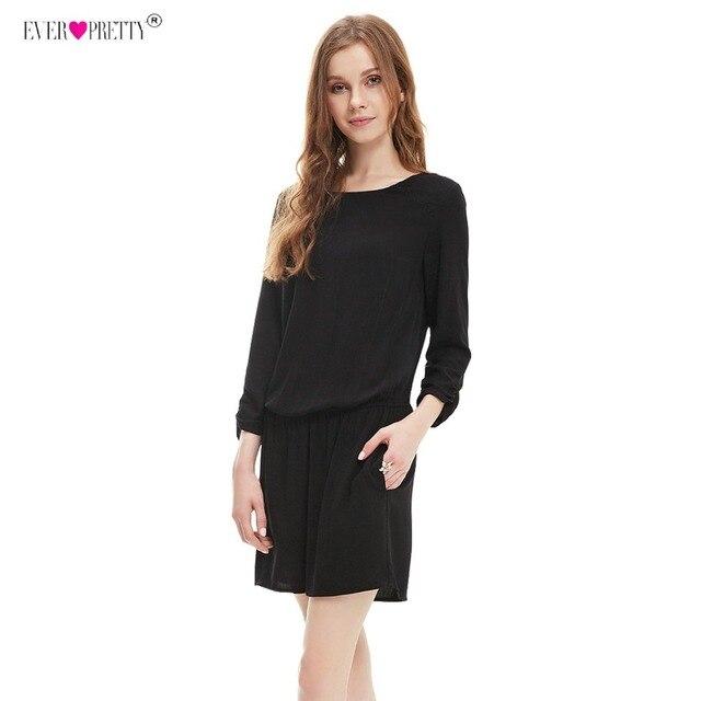 704425ff6abd6 US $16.79 30% OFF|Ever pretty Robe Cocktail Dresses HE05308 Women Black  Elegant Vintage Long Sleeve Causal Cocktail Dresses Mini Abiye Vestidos-in  ...