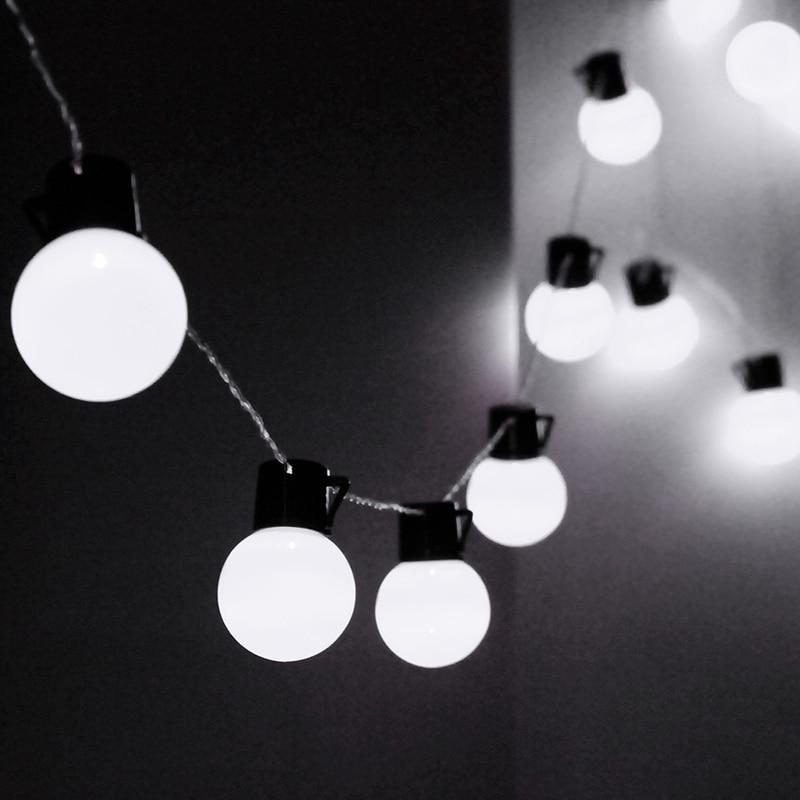 EU Plug 10m Fairy Lighting 38 Balls LED String Lights For House Christmas Party LED Outdoor