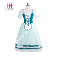 Для женщин Professional длинная балетная юбка Жизель деревня девочки балетные костюмы крестьянские обувь для девочек балетное платье балерина к