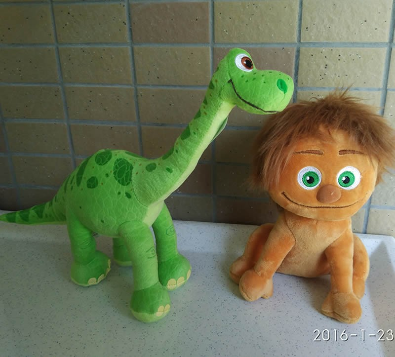 1 Set of Top Quality 2 Pcs of GOOD DINOSAUR Spot and Arlo Plush