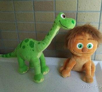 1 Unidades original el buen dinosaurio 2015 22 cm punto Boy + 30 cm dinosaurio arlo juguetes de peluche para regalo de Cumpleaños de los niños