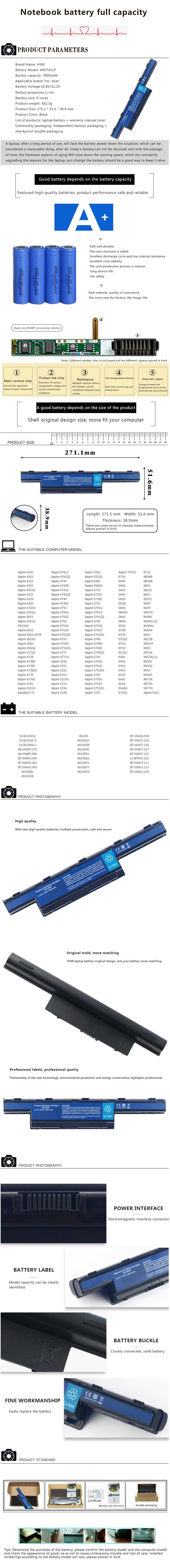 5b5c5034f57 HSW 9 celular nueva batería para acer aspire 4741 5742G 5552G 5742 5750G  5741G AS10D31 AS10D51 AS10D81 AS10D75 AS10D61 AS10D41 AS10D71