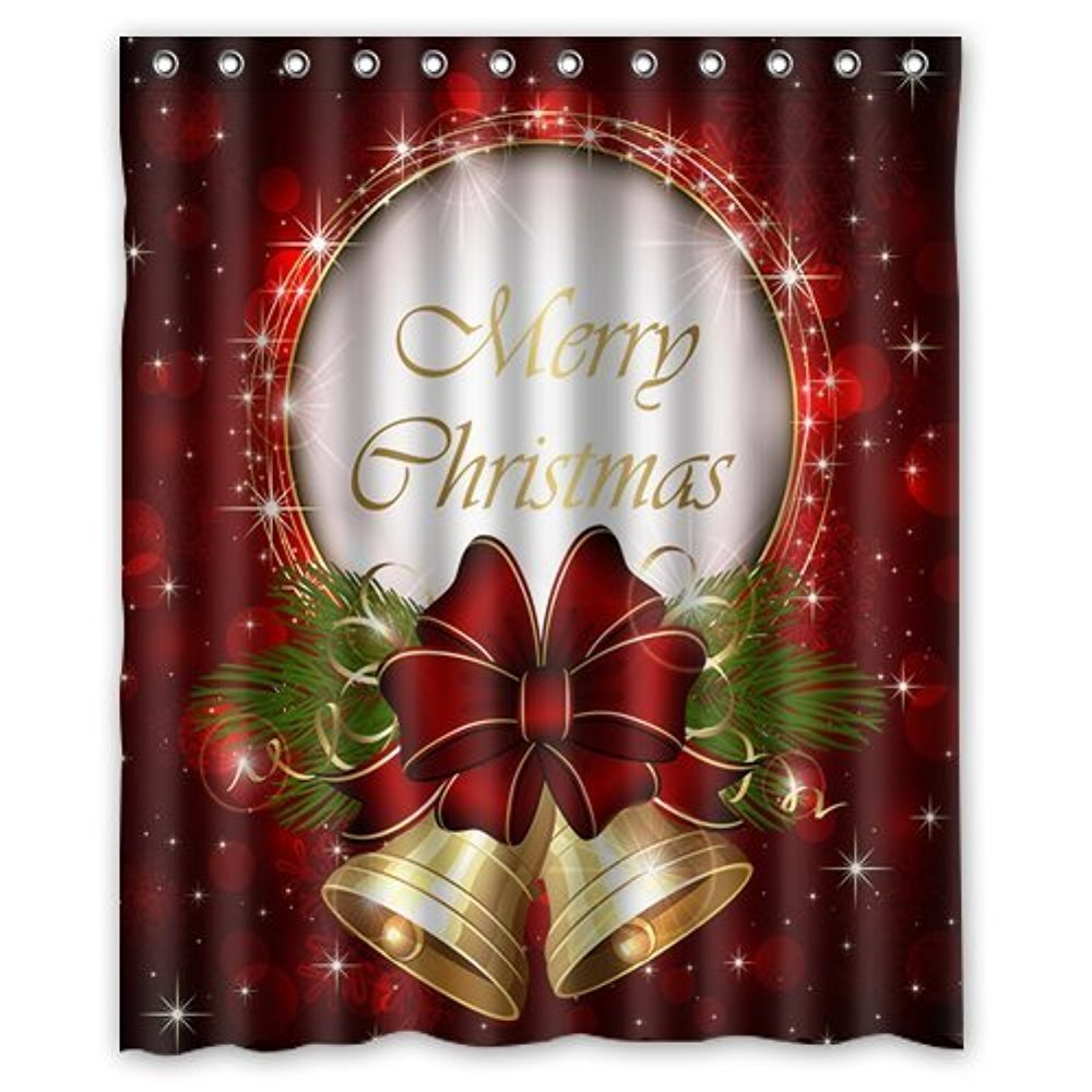 Memory Home Bathroom Decor Merry Christmas Custom Fashion ...