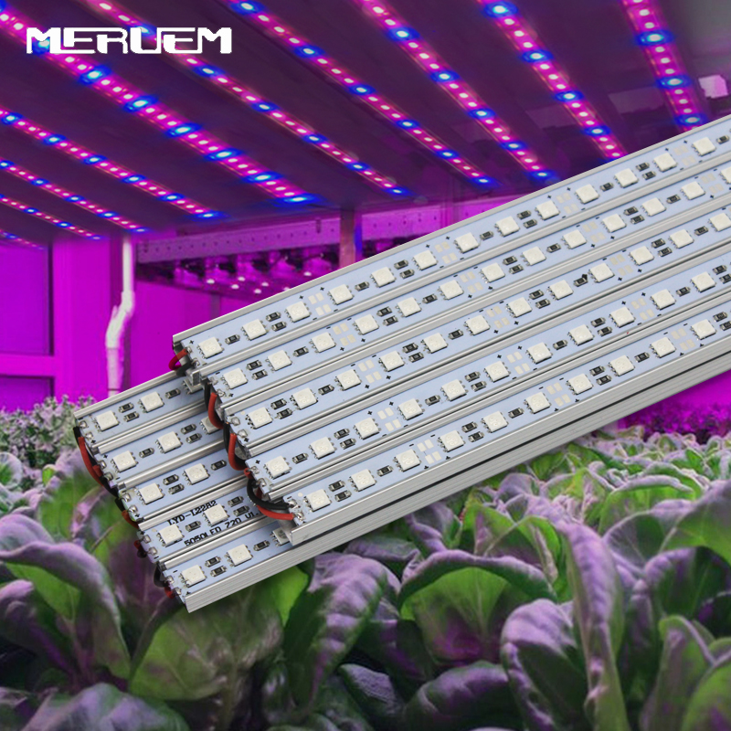 10pcs/lot 10W 27Red 9Blue SMD5050 Led Grow Strip Light For Flowers Plant And Hydroponics System DC12V Grow Lamps Free Shipping
