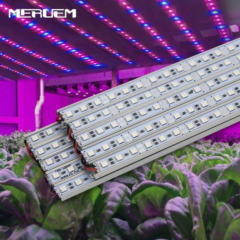 10pcs / lot 10W 27Red 9Blue SMD5050 Led Grow Strip Light pentru Floare Plant și Hydroponics System DC12V grow lamp Livrare gratuită