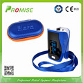 Promise Digital Oximeter SPO2 PI PR Oximetro De Dedo Portable Fingertip Pulse Oximeter CE Approved with Case Dark Blue
