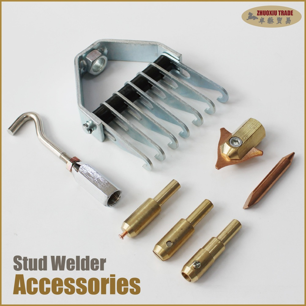 Spot welding electrodes car spotter stud welder dent puller metal sheet pulling bodywork garage workshop tools tips holder chuck welder machine plasma cutter welder mask for welder machine