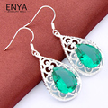 ENYA 2017 New Fashion Accessories Jewelry High Quality Brand Crystal Drop Earrings For Women Holiday Gift Bijoux E0101