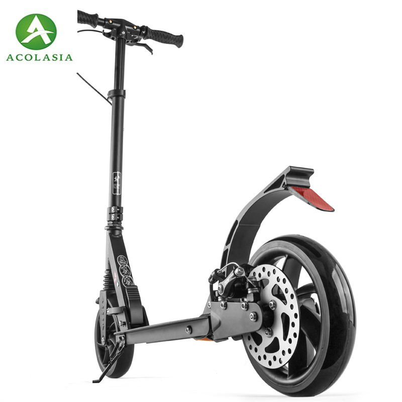 Double Brake System For Adults City Scooter With Disc Brake Or Other Available