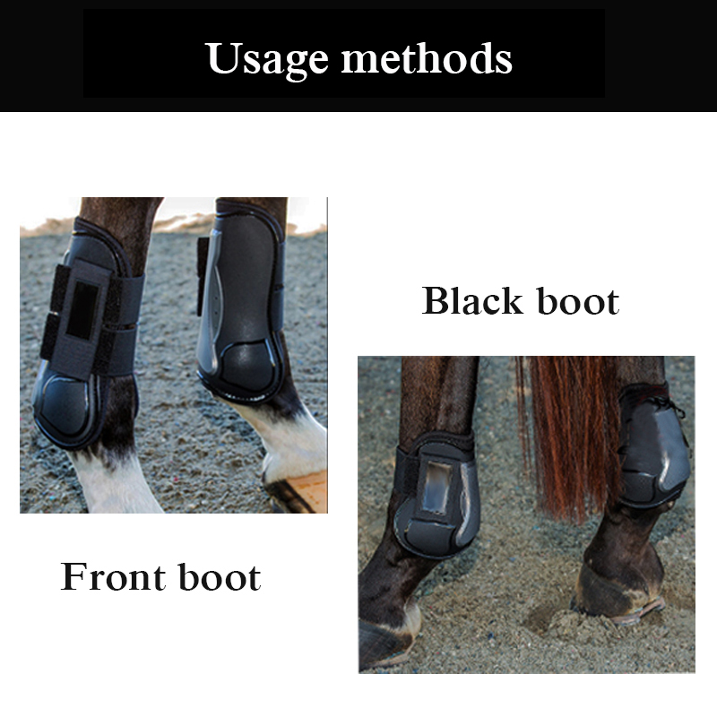Image 5 - 4 PCS Soft PU Leather Horse Riding Equestrian Equipment Horse racing Legging Protector Exercise boots Equipment  Horse Bracers-in Horse Care Products from Sports & Entertainment