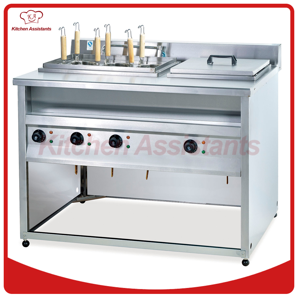 GH776B vertical gas convection pasta cooker and bain marie pkjg gh776 gas convection pasta cooker 6 pan for commercial kitchen
