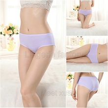 4XL Women Underwear Lingerie Sexy cotton Panties for Women Solid Fulll contton Briefs Panties Underwear(China)