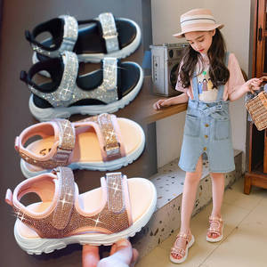 Girls sandals 2019 summer new children fashion wild casual princess shoes breathable Roman wind non-slip soft bottom kids shoes