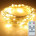 5Modes10M 100LEDS 110V Power Plug Silver Wire Fairy String Light Lamp Waterproof For Christmas Wedding Party Decorate
