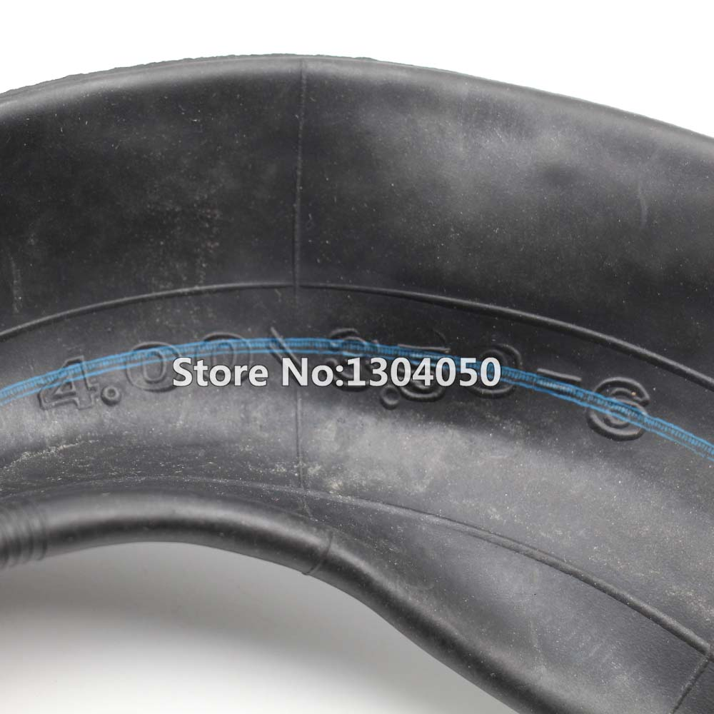 Two New 3.50/4.00-6 350/400-6 Inner Tube Innertube Tire  Wheelbarrow Rubber Valve 6""