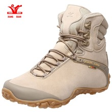 ФОТО xiang guan men's  high-top lacing up breathable walking boots waterproof hiking boots
