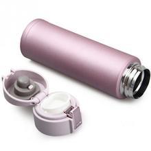 500ML Fashion Food Grade Tea Water Cup Stainless Steel + Plastic Vacuum Insulated Coffee Mug Travel Drink 23.5*6.7cm