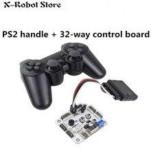 6 24 32 Channel Robot Servo Motor Control Board & PS2 Controller + Receiver for Hexapod manipulator Mechanical Arm Bipedal Robot