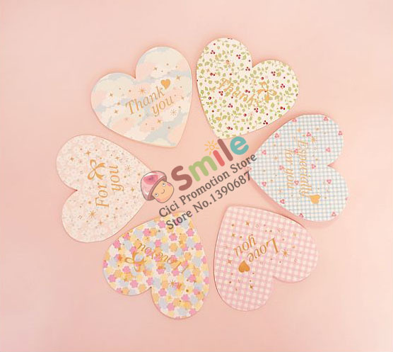 Creative Retro Romantic Heart Sticker Card Printing Sticker