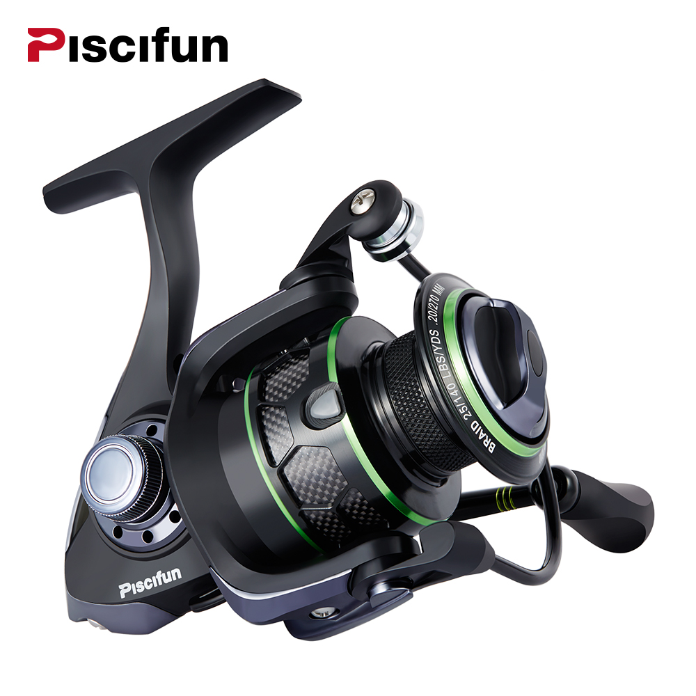 Piscifun Venom Bobina di Pesca 12Kg Max Trascina Spinning Reel 10 + 1 Cuscinetti Water Resistant 5.1: 1 Gear rapporto Spinning Reel Fishing