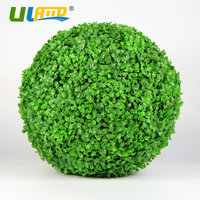 ULAND Artificial Boxwood Ball Plastic Plants Grass leaves Kissing Ball Faux Topiary Sphere Wedding Christmas Garden Decoration