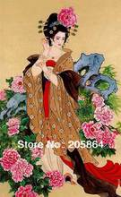 Free shipping famous classical art fabric picture,4 beauties in ancient  Chia,DIY high technology TEXTILE picture as nice gifts