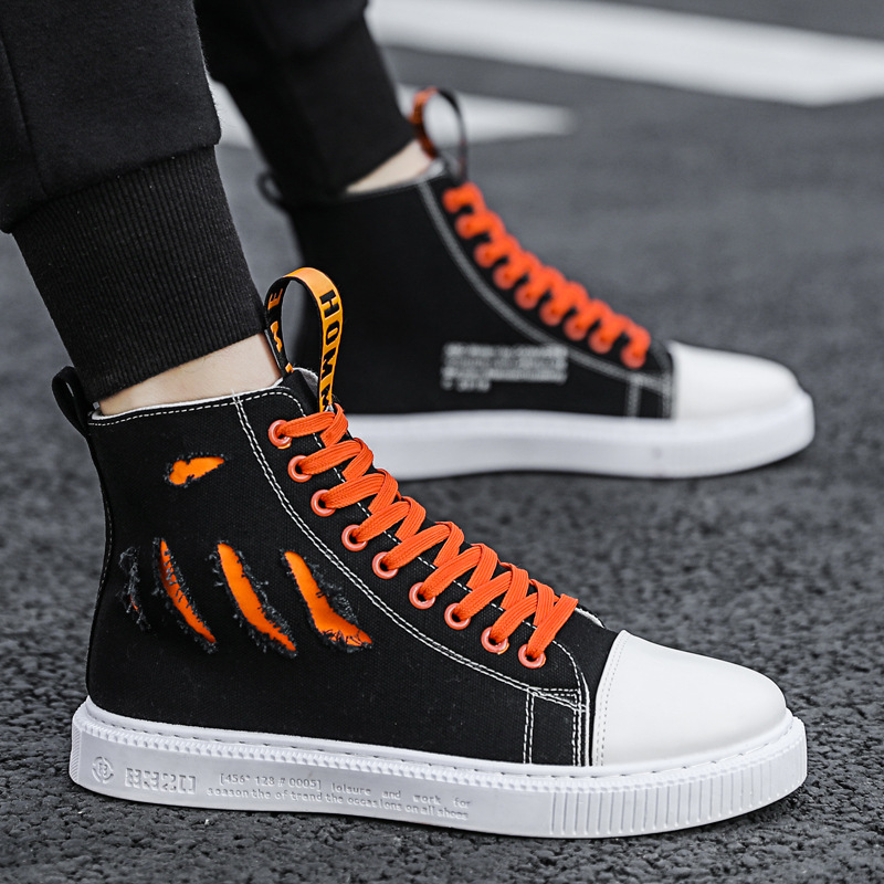 Men's High Top Fashion Sneakers Trend Sale Comfortable Man Vulcanized shoes Outdoor Non-slip Breathable Men Shoes AS-64(China)