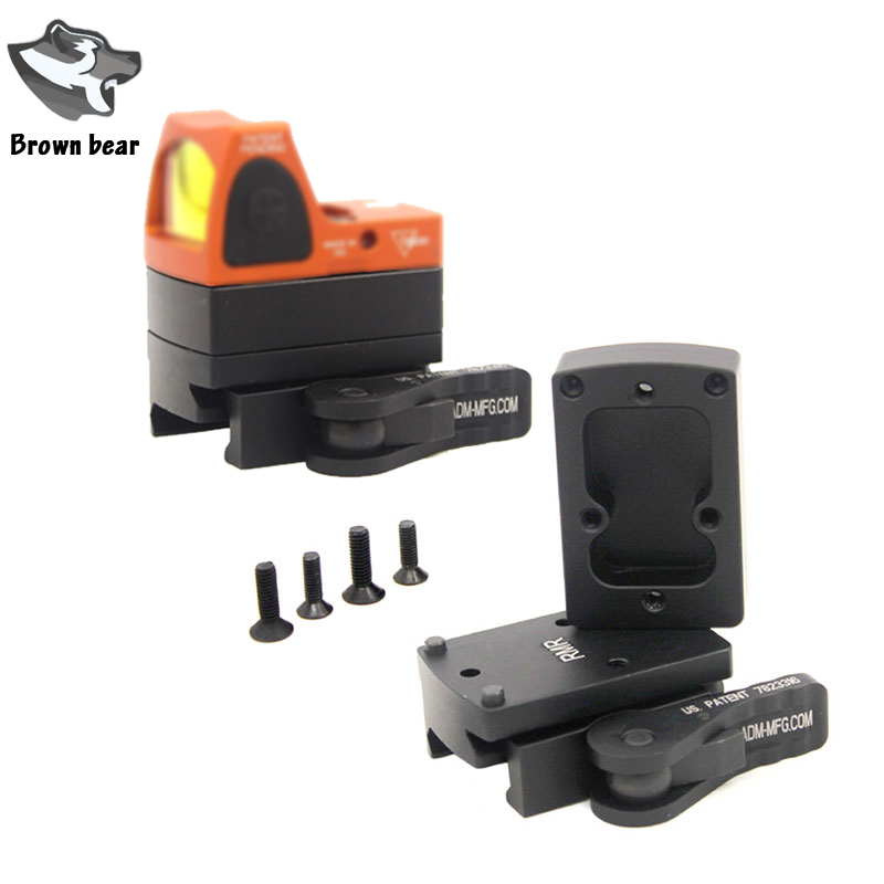 Tactical CQC RMR Mini Red Dot Sight Base Scope Mount With QD Quick Auto Lock Fit 20mm Weaver Picatinny Rail Scope Mount