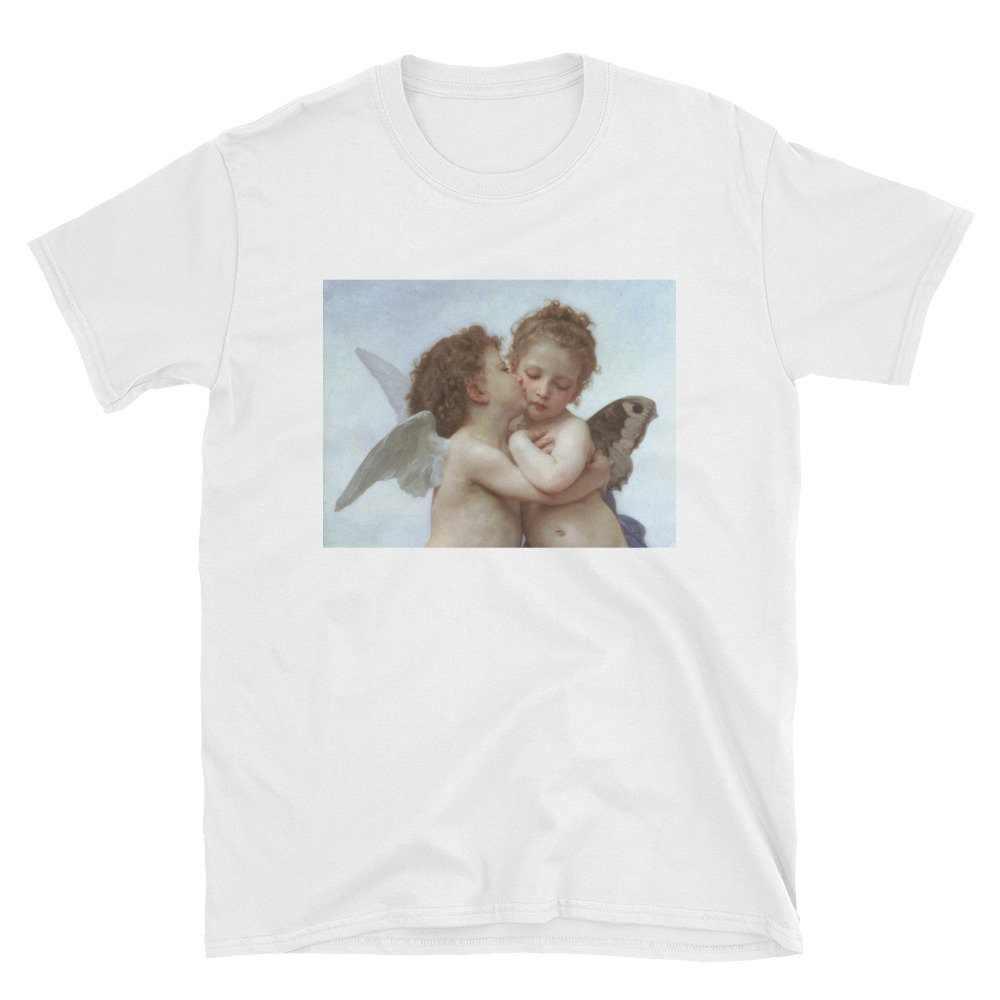 0bdd5133e ... HAHAYULE-JBH1pcs Angels Kissing Shirt, Cupids Tee, Art Aesthetic Tshirt,  Renaissance Painting ...