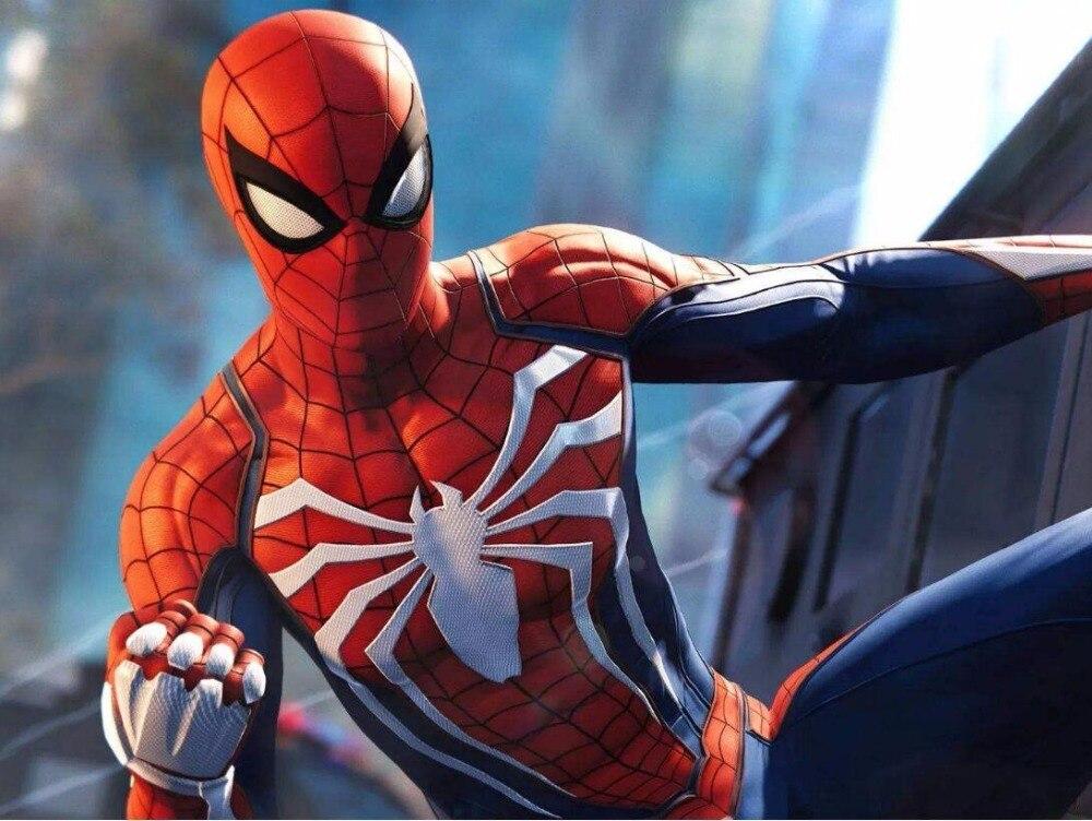 New Ps4 Insomniac Games Cosplay Costume Kids Adult Lycra Bodysuit Costume For Halloween Zentai Suit Man